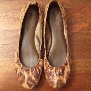 Banana Republic Brown Python Ballet Flats 8